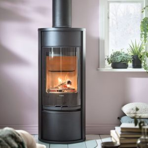 Contura 610G wood burning stove in black