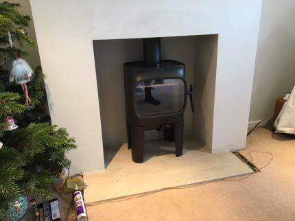 Jotul F105 Long Legs Wood Burning Stove Installation