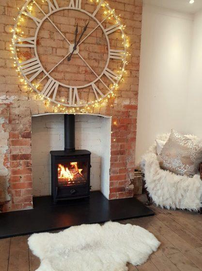 Fireline FP5W Wood Burning Stove with slate hearth