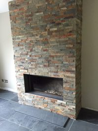 Inset Gas Fire with false chimney breast