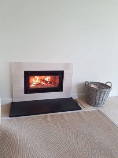 Stovax Studio 2 Wood Burning Fire Installation