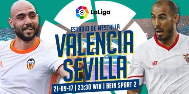 Prediksi Valencia vs Sevilla 22 Oktober 2017