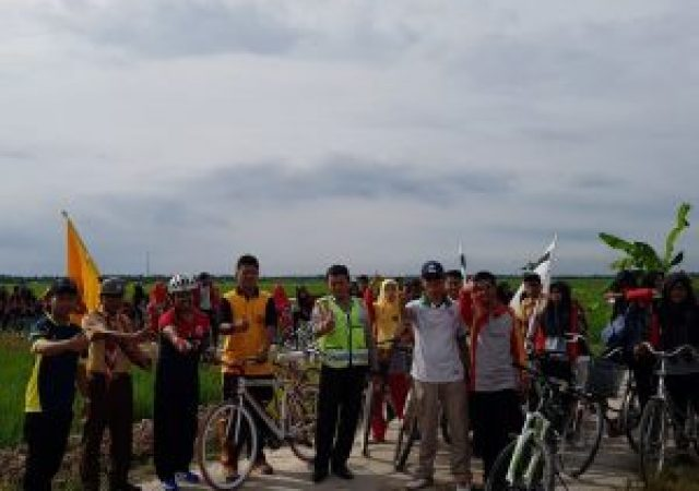 SMPN 1 Bungaraya Gelar Fun Bike Agro Wisata