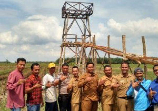 Perindah Agrowisata, Pokdarwis Nuansa Lestari Bangun Tower Selfi di Tengah Sawah