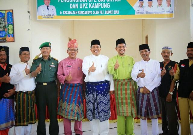 Plt Bupati Siak Kukuhkan 11 Pengurus  UPZ Gapoktan dan Kampung se-kecamatan Bungaraya.