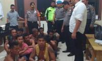 31 Preman Ditangkap Polres Pelabuhan Belawan