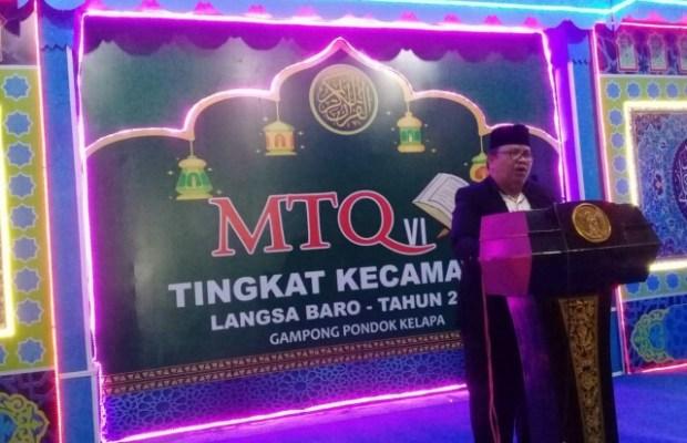 Camat Zulhadisyah Buka MTQ ke VI Tingkat Kecamatan Langsa Baro