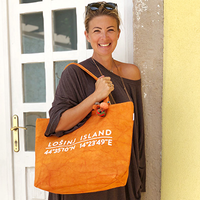 Losinj Island Orange Bag