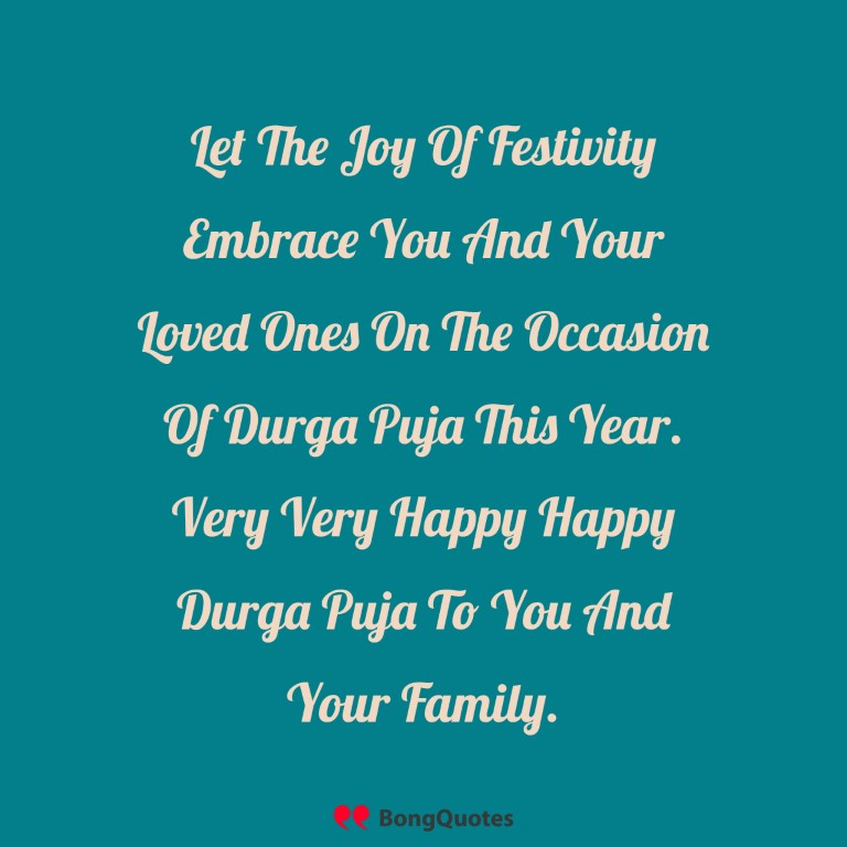 happy Durga Puja In English