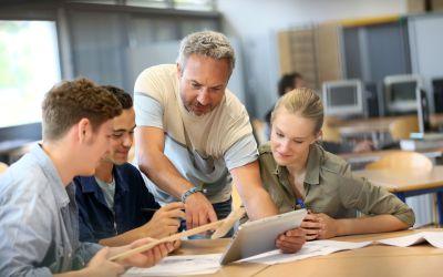 C'est ça Bonheur à l'école et le cadre du milieu de travail positif!