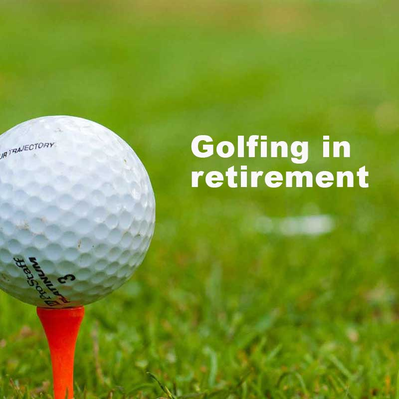 Retirement sports - Golfing is one of the most popular retirement sports