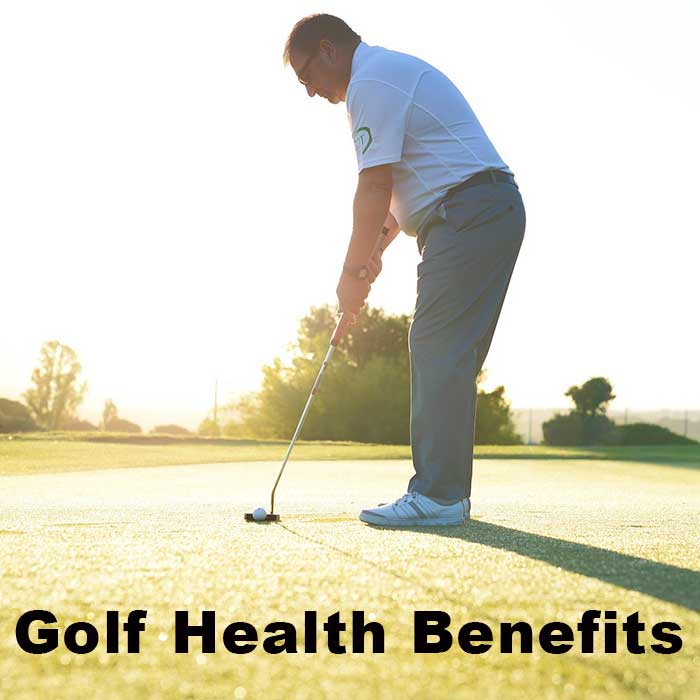 Many playing golf, Golf provides health benefits