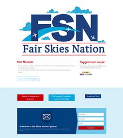 Fair Skies Nation Website Design