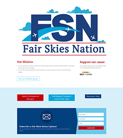 Fair Skies Nation Website Design