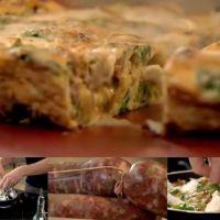 朝食#9 フェンネルソーセージのフリッタータ Fennel sausage frittata