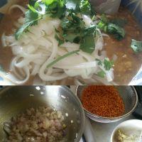 今日のランチ!赤レンズ豆のスープカレーうどん