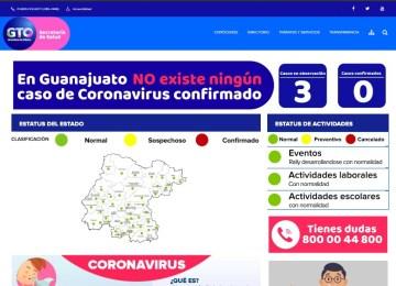 Página web para informar sobre el coronavirus