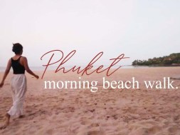 Morning beach walk at Surin Beach, Phuket