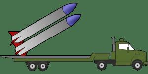 発射台にミサイル