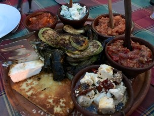 Mezze at the Welcome Dinner - Real Food Adventure Macedonia and Montenegro