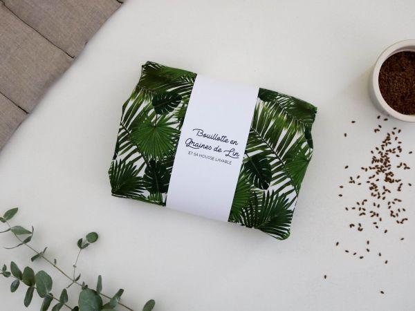 Bouillotte en graines de lin coussin chauffant relaxant bonjour tangerine france jungle
