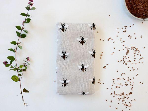 Bouillotte en graines de lin bouillotte sèche abeilles