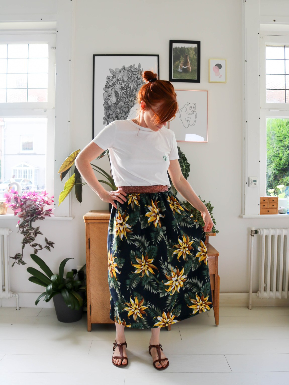 DIY jupe midi élastique