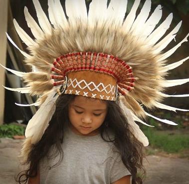 coiffe-indien-deguisement-enfant-naturel-blanc-beige-52cm