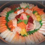 sushi and sashimi plate