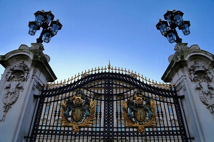バッキンガム宮殿の入口