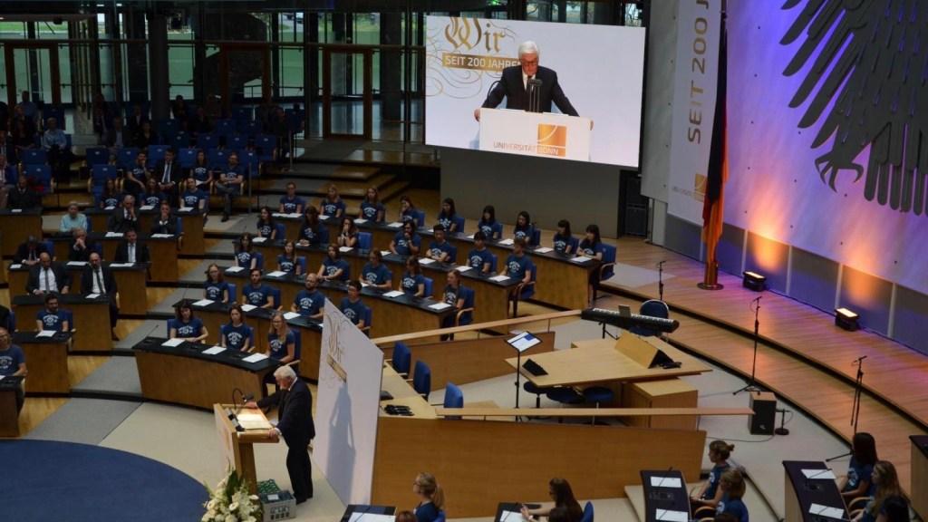 Höhepunkt des Jubiläumsjahres – Steinmeier beim Festakt zu 200 Jahren Uni Bonn