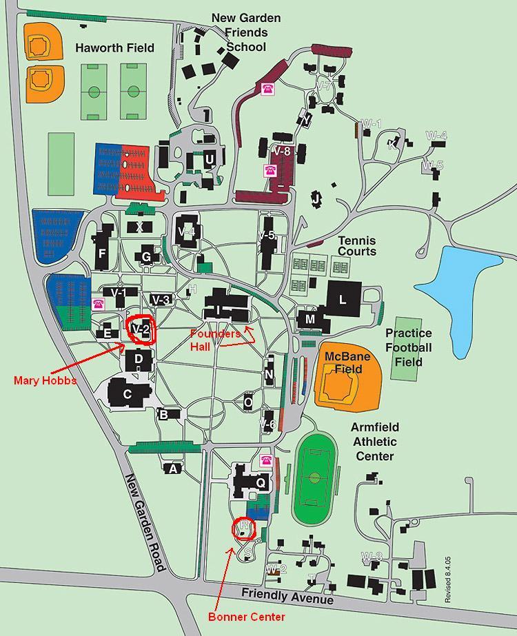 Map Of North Carolina Wake Forest University