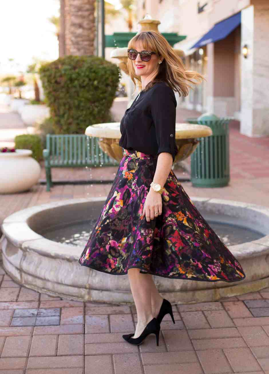 floral-DIY-skirt-glitter