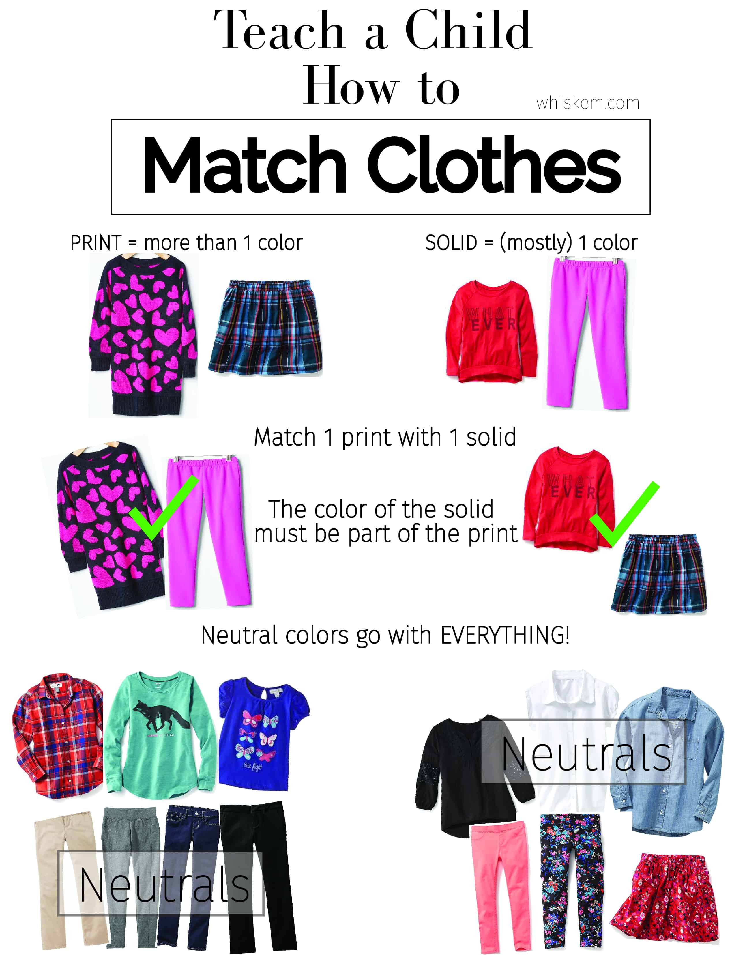 Teach a Child How to Match Clothes