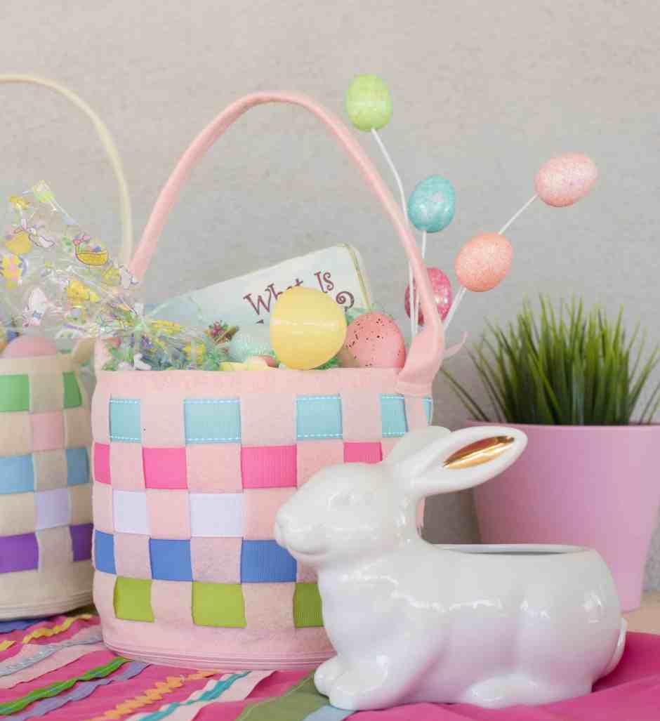 Easter Basket DIY Sewing project for kids