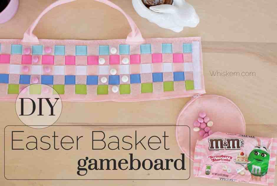 Easy felt DIY Easter basket sewing project