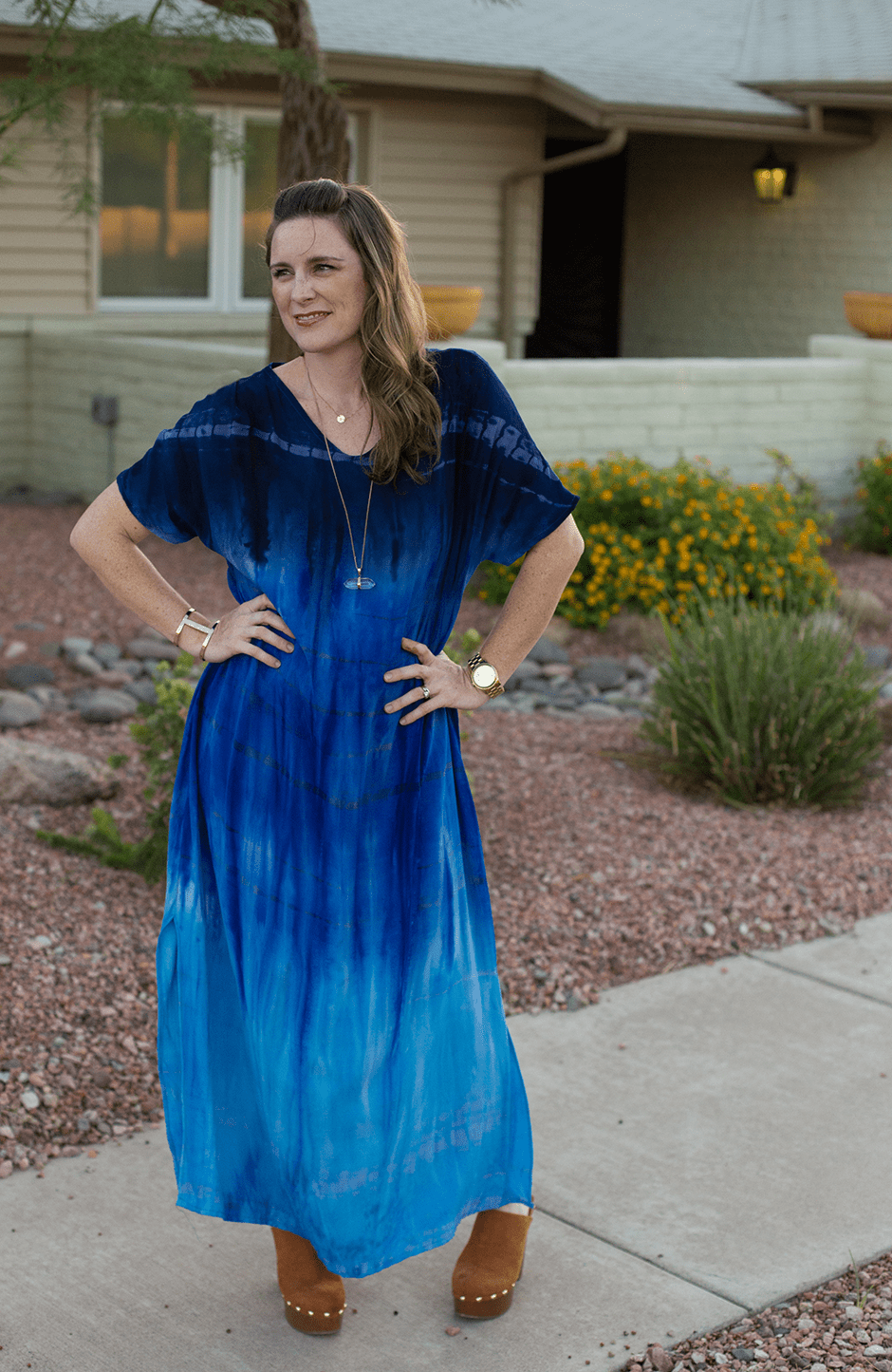 DIY-caftan-flowy-dress