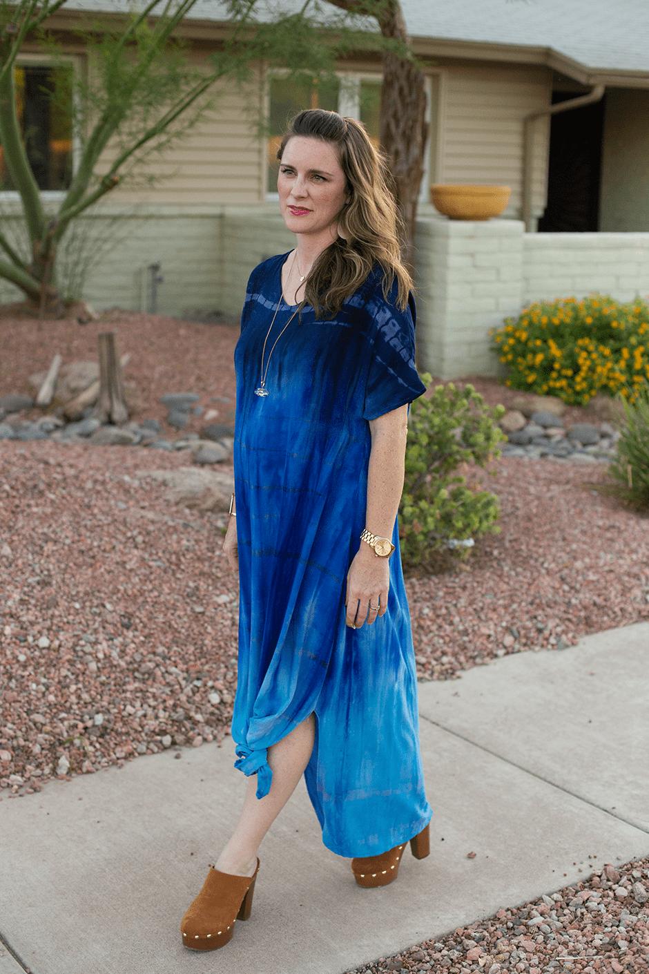 Diy maxi dress with sleeves