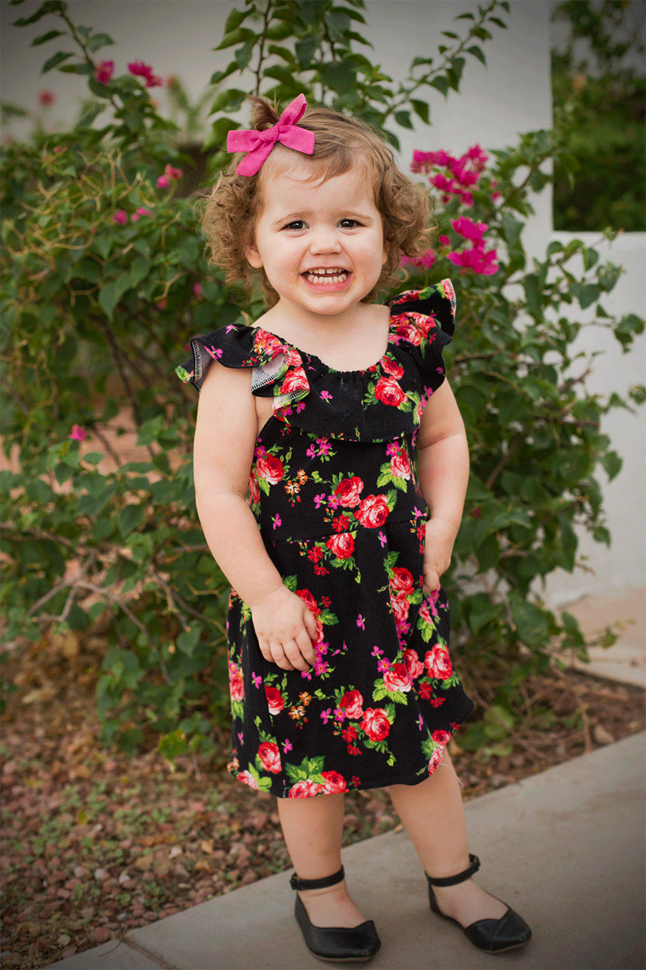 Ruffle Knit Play Dress • Bonnie and Blithe
