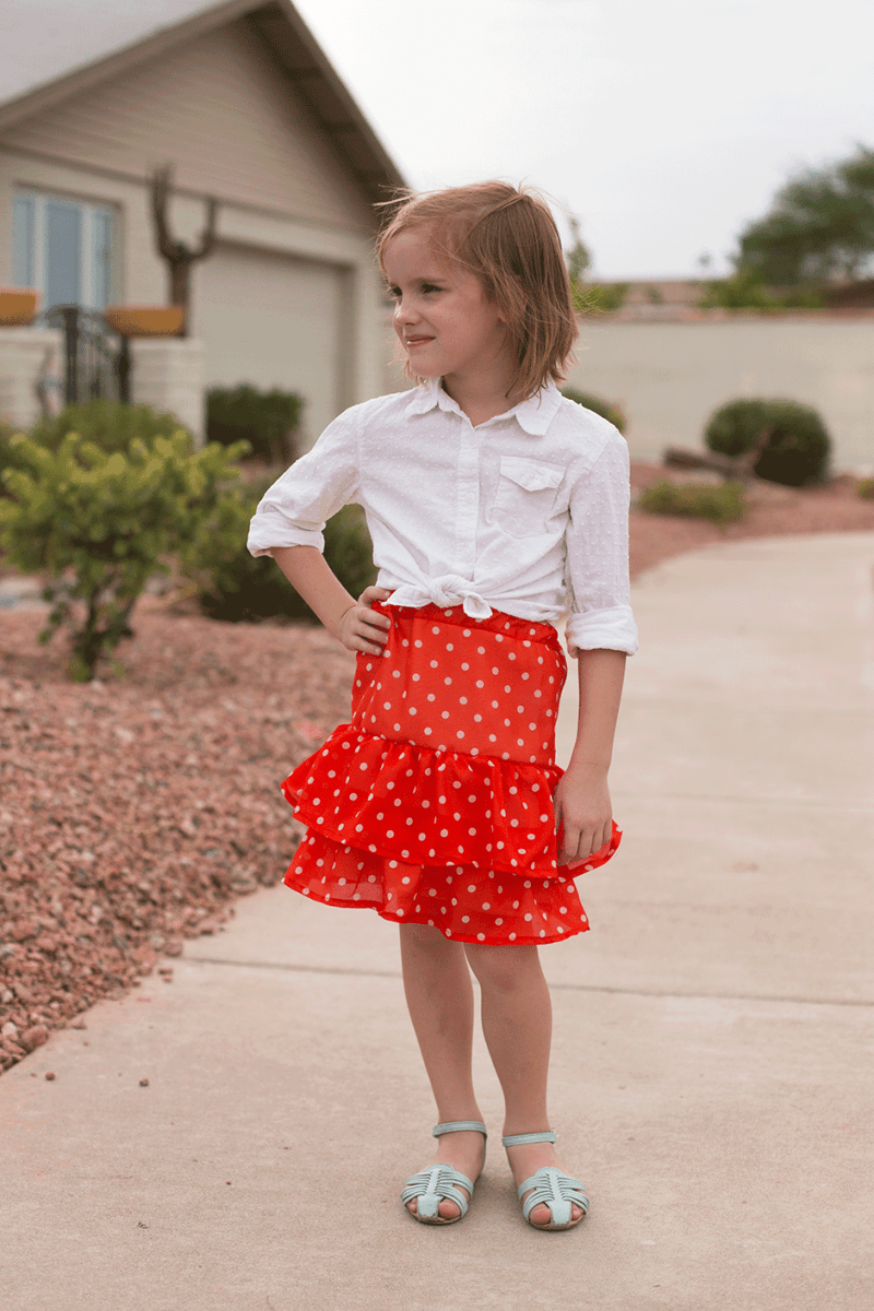 Tiered Ruffle Skirt Tutorial + A Chance to Give Back!