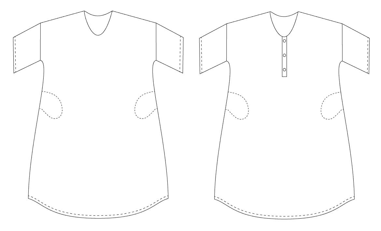 Free Womens Sewing Pattern: The Perfect Lounge Dress
