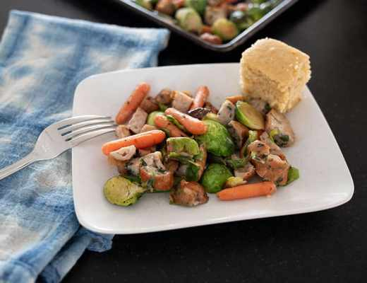 Looking for healthy 30 minute meals that the whole family will eat? This one is a favorite at our house and is chock full of vegetables to boot! Bonus: it's perfect for cleaning out the fridge at the end of the week.