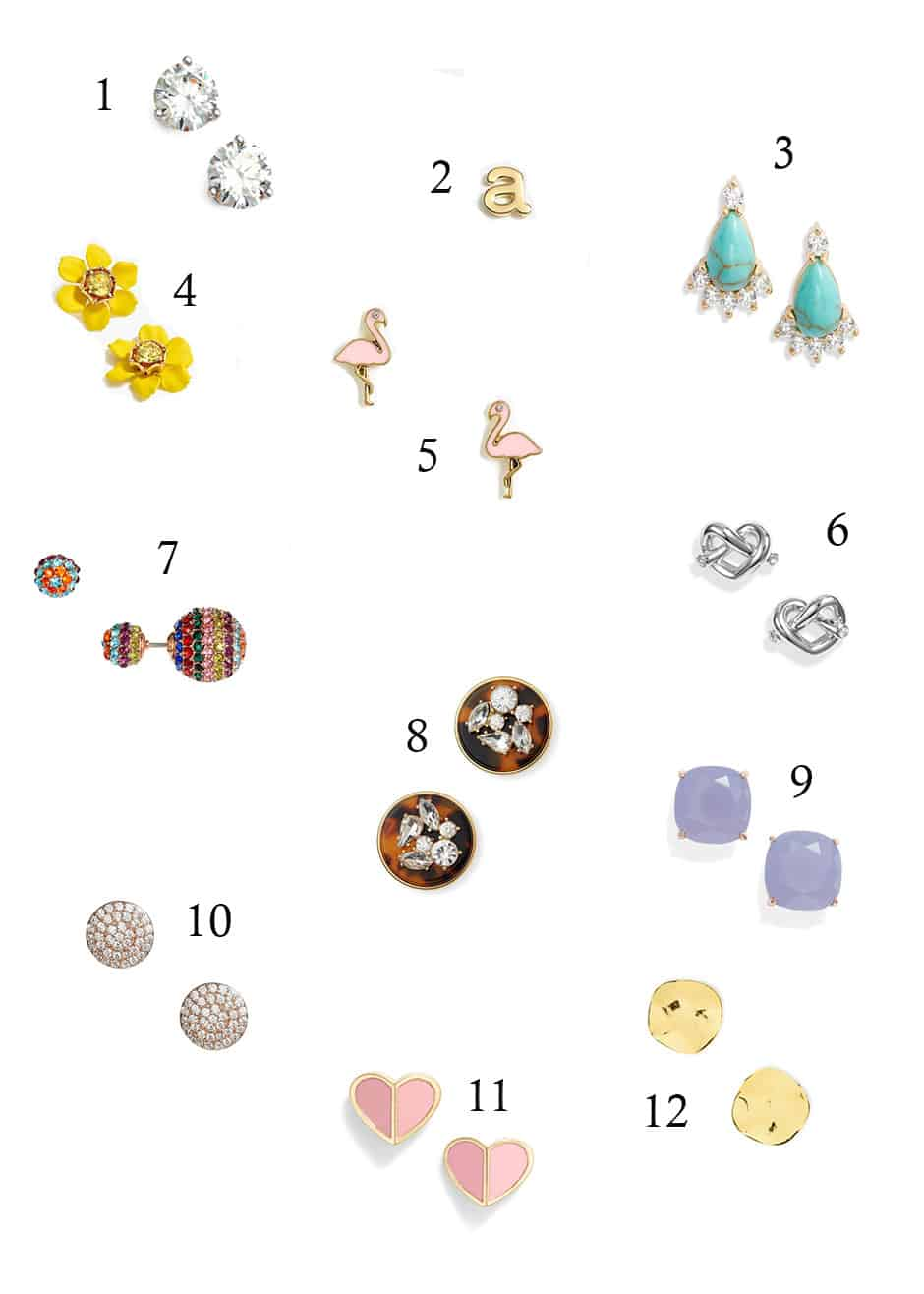 Looking for some cute studs to throw in no matter what you're wearing? This roundup has every style imaginable and they're all perfect for everyday wear! Throw in a pair of faux diamond stud earrings or simply some gold bars and look like you actually took time getting ready.