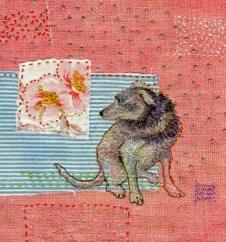 she who waits embroidery on silk