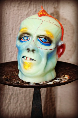 frankie head candle
