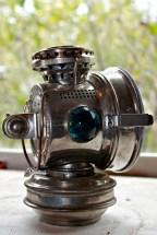 twentieth century kerosene portable crystal signal lights
