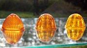 vintage glass marker light lenses