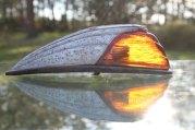 1950s chrome cab light amber glass lens