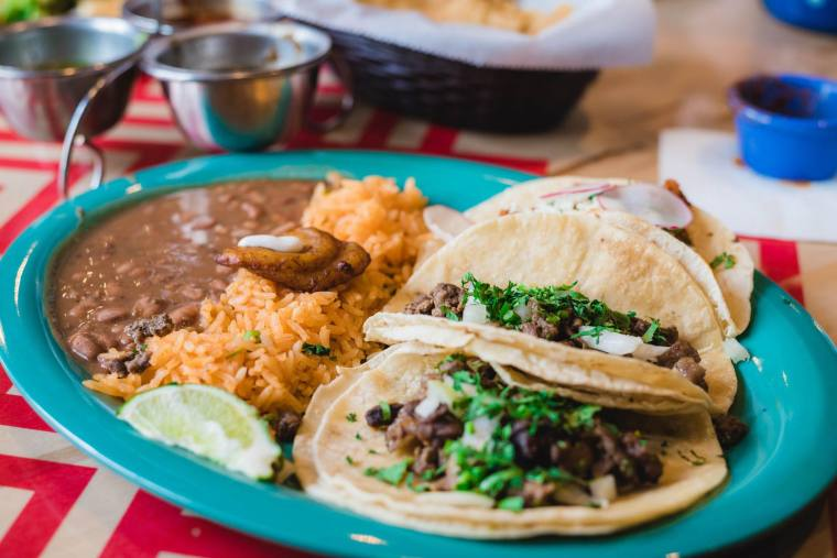 Amazing Mexican Food with salsas