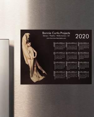2020 Magnetic Calendar Bonnie Gold